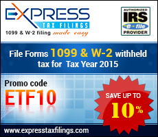 IRS Form 1099 INT ad banner